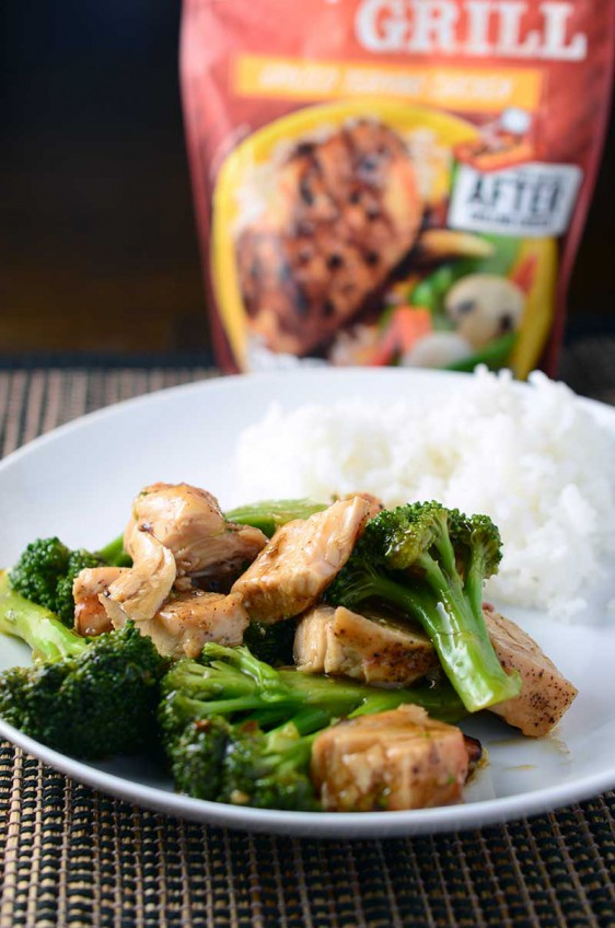 Grilled Chicken Teriyaki & Broccoli Stir Fry