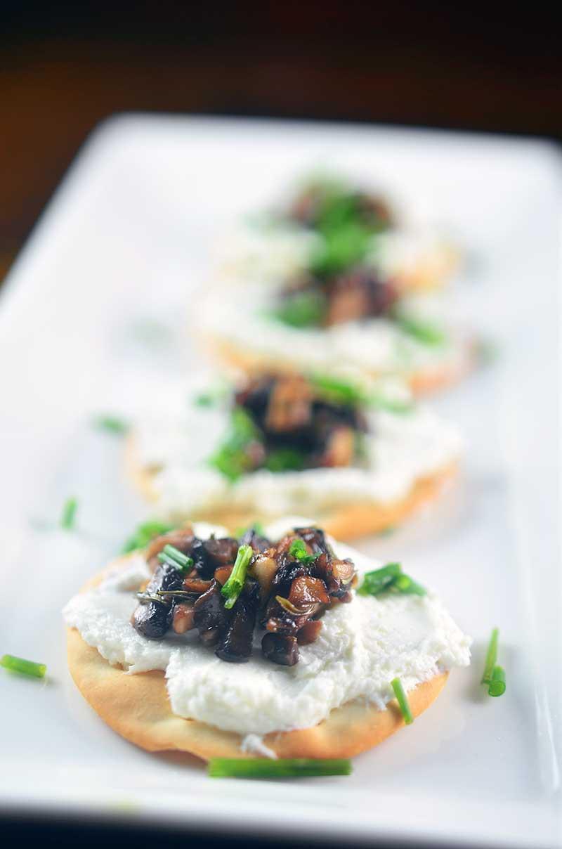 Herb Mushroom and Goat Cheese Bites