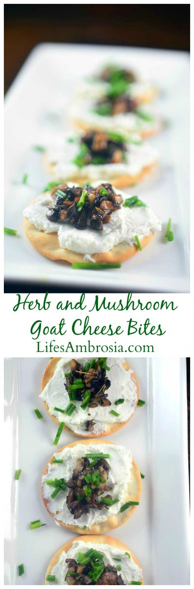 Herb and Mushroom Goat Cheese Spread