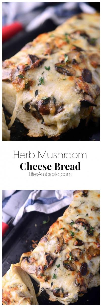 Herb Mushroom Cheese Bread