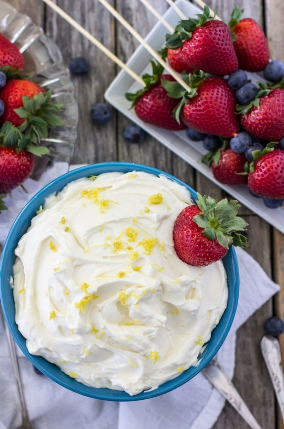 Lemon Cheesecake Dip