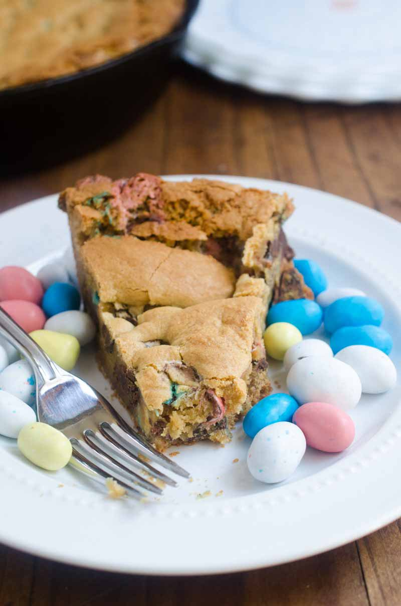 Easter Candy Skillet Cookie