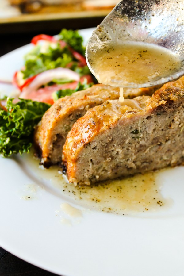 Meatloaf with Garlic Sauce