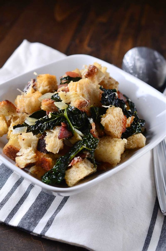 Parmesan, Bacon and Kale Stuffing