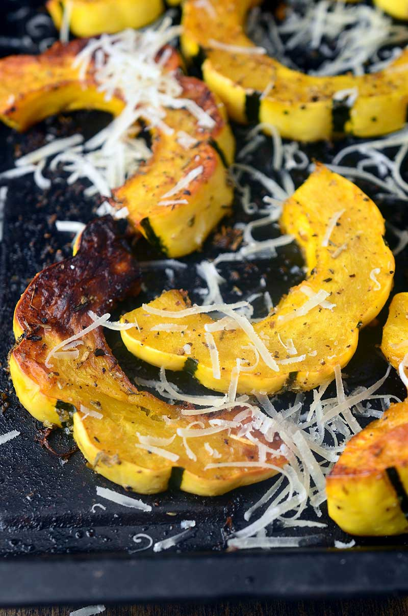 Parmesan Herb Roasted Delicata Squash