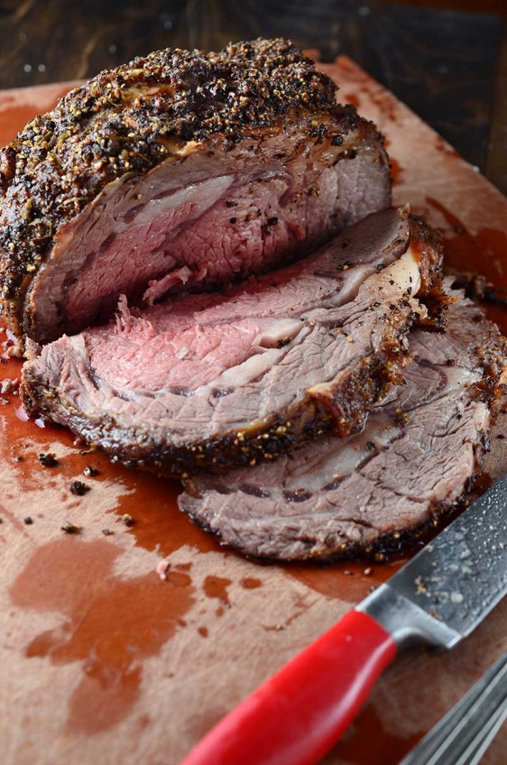 Peppercorn and Rosemary Crusted Prime Rib
