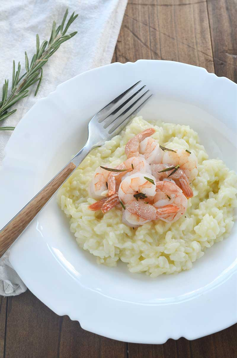 Pressure Cooker Risotto and Roasted Rosemary Shrimp
