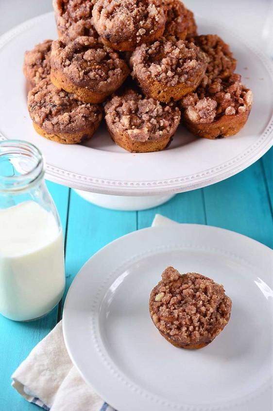 Pumpkin Chocolate Chip Zucchini Muffins