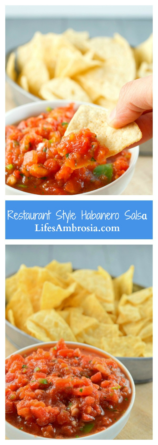 A quick, easy and spicy restaurant style habanero salsa.