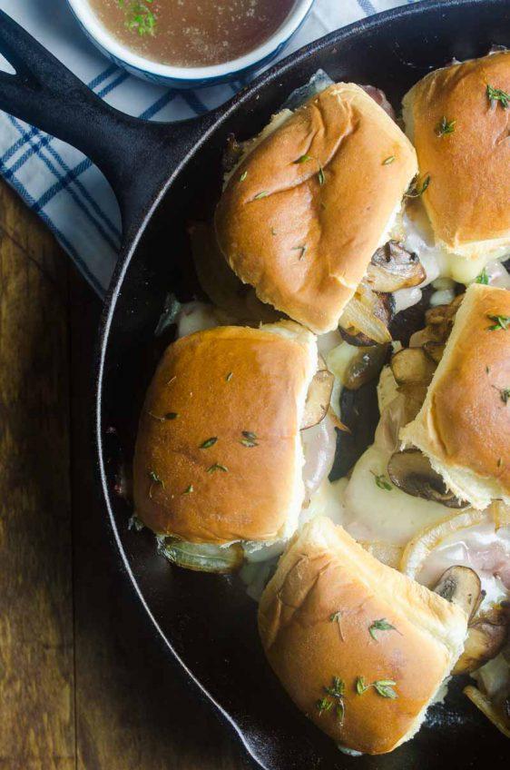 Roast Beef Mushroom Sliders