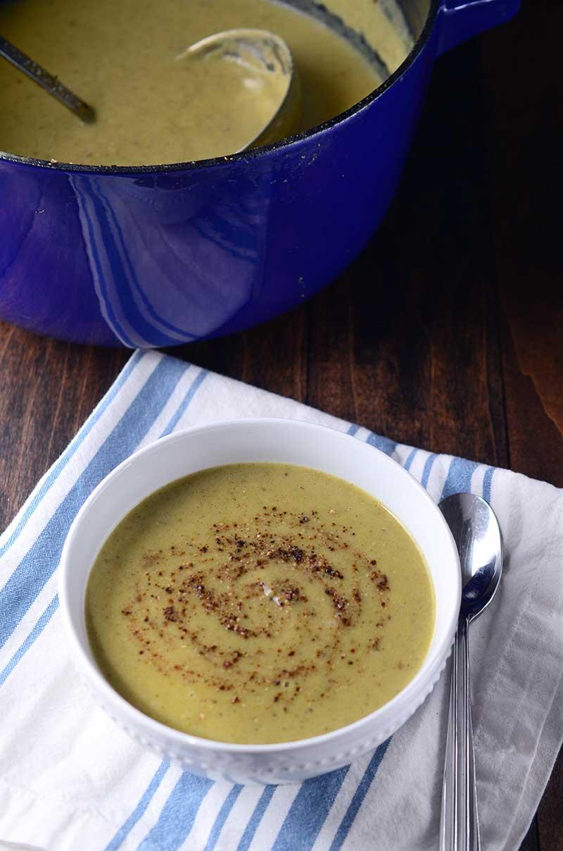 Roasted Broccoli Soup
