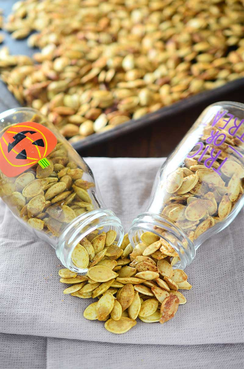 Roasted Pumpkin Seeds Two Ways
