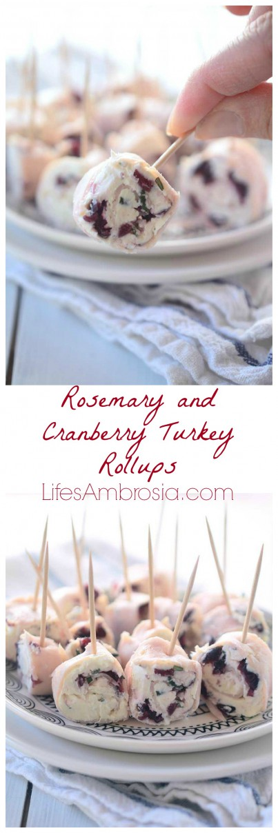 Rosemary and Cranberry Turkey Rollups Collage