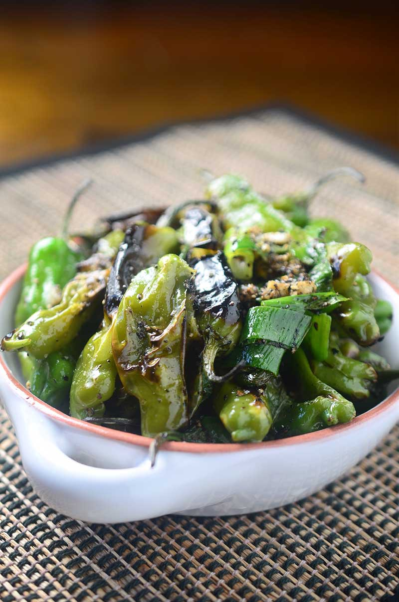 Salt n' Pepper Blistered Shishito Peppers