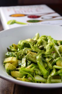 Shaved Asparagus & Avocado Salad + Cookbook Giveaway!
