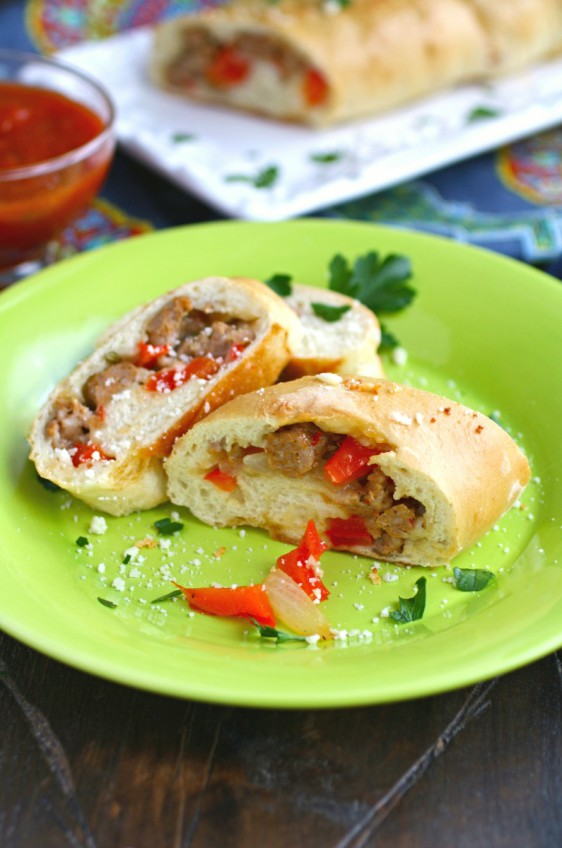 Sausage and Pepper Stromboli