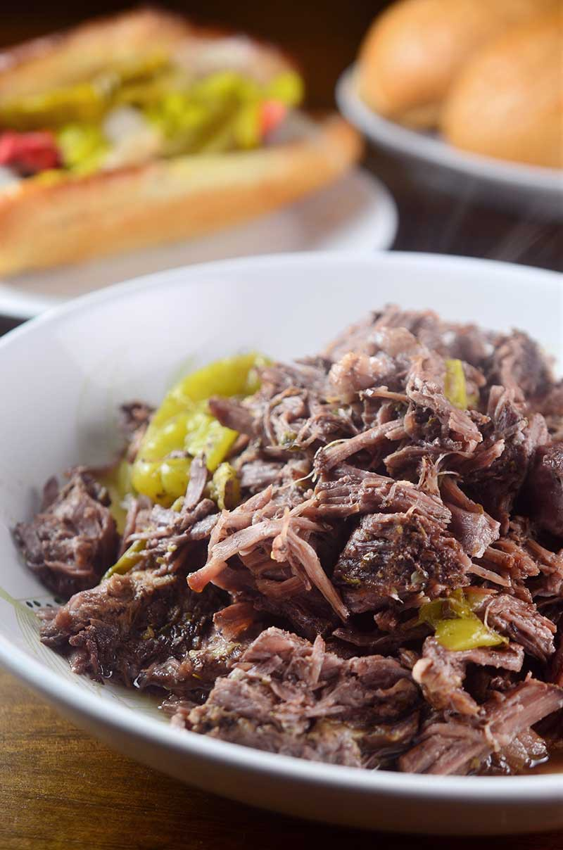Slow Cooker Italian Beef Sandwiches - Life's Ambrosia