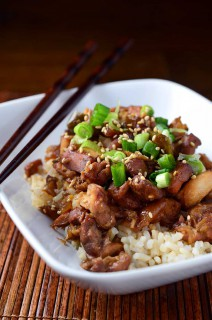 Slow Cooker Sesame Bourbon Chicken