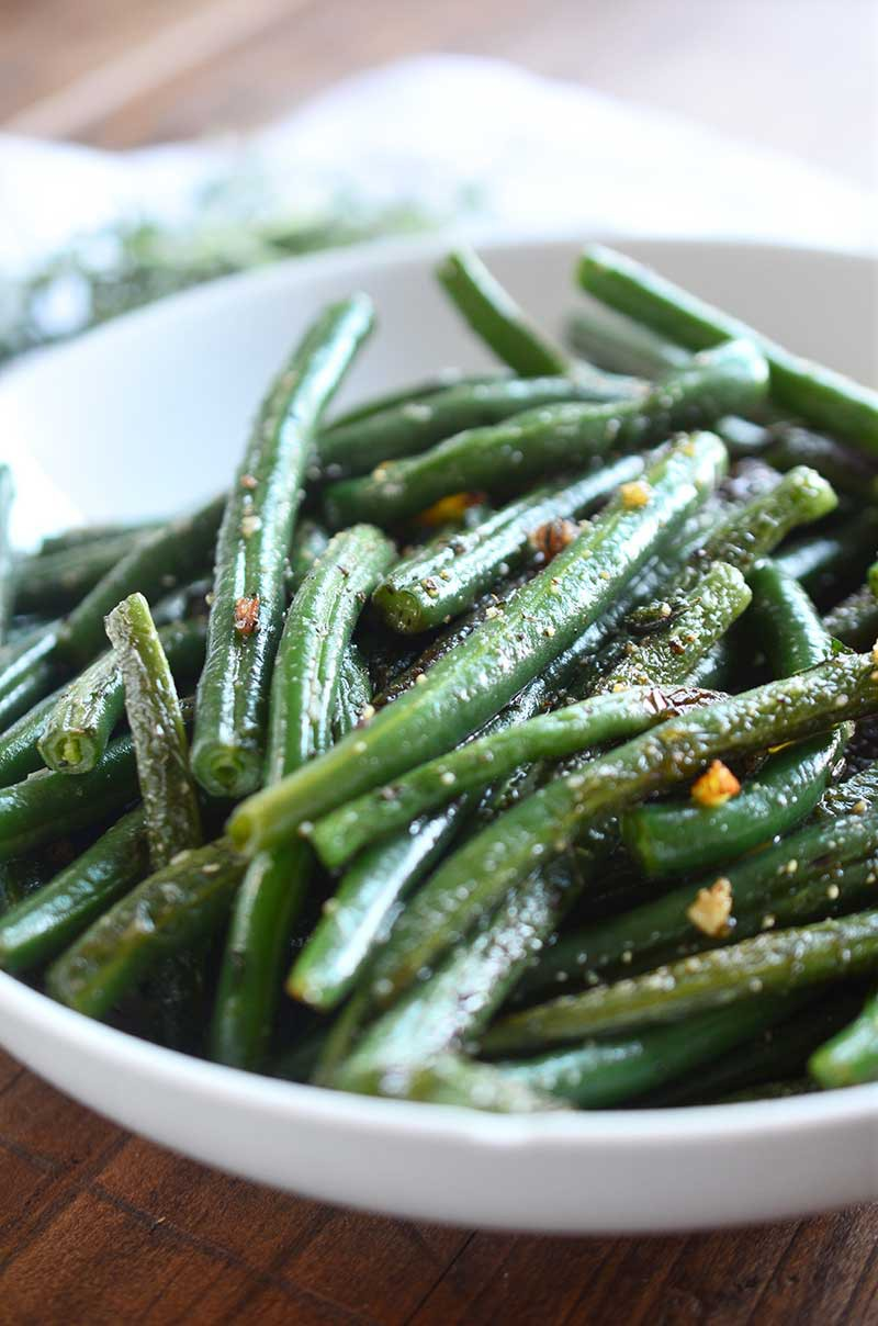 Summer Savory and Garlic Green Beans are the best way to enjoy fresh from the garden green beans.