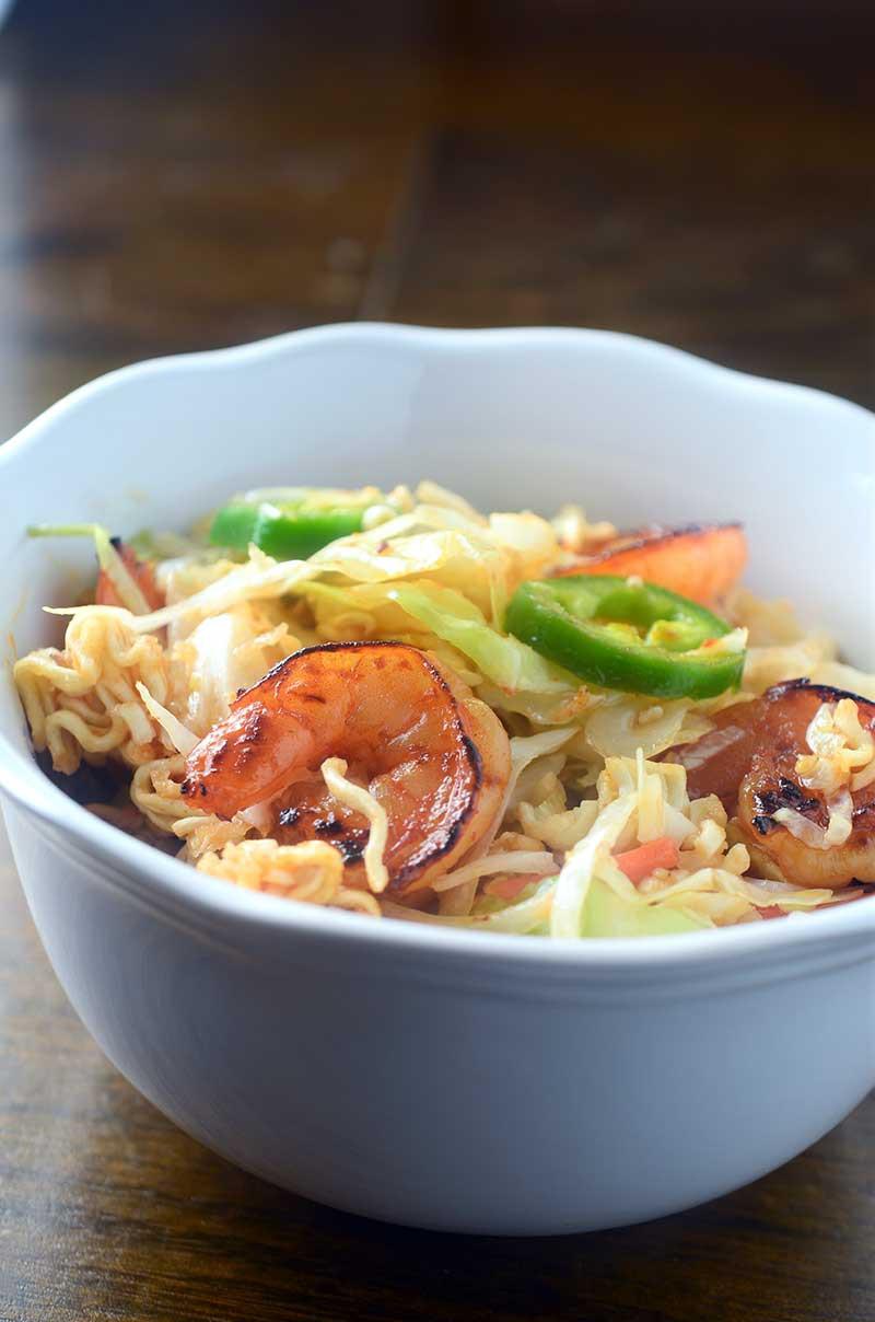 Sweet n' Spicy Shrimp and Ramen Noodle Salad