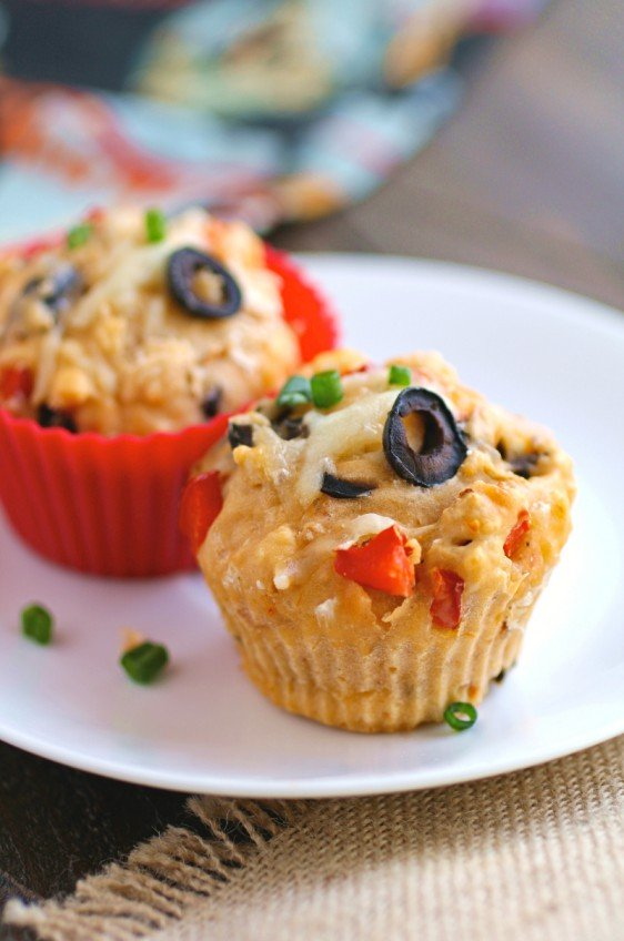 Greek Style Pizza Muffins