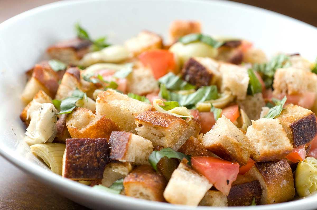 Artichoke Tomato Panzanella Salad