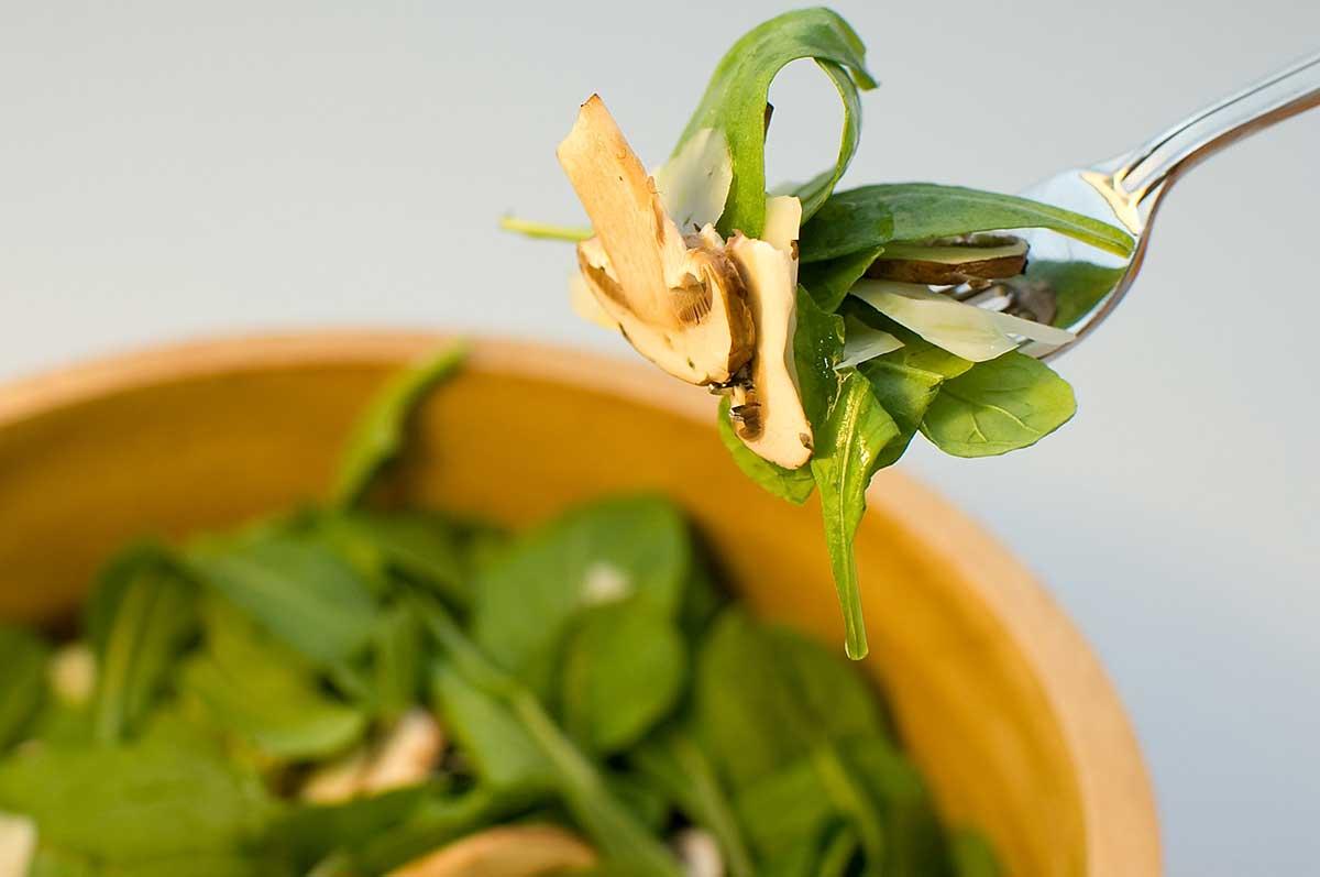 Arugula, Parmesan and Mushroom Salad