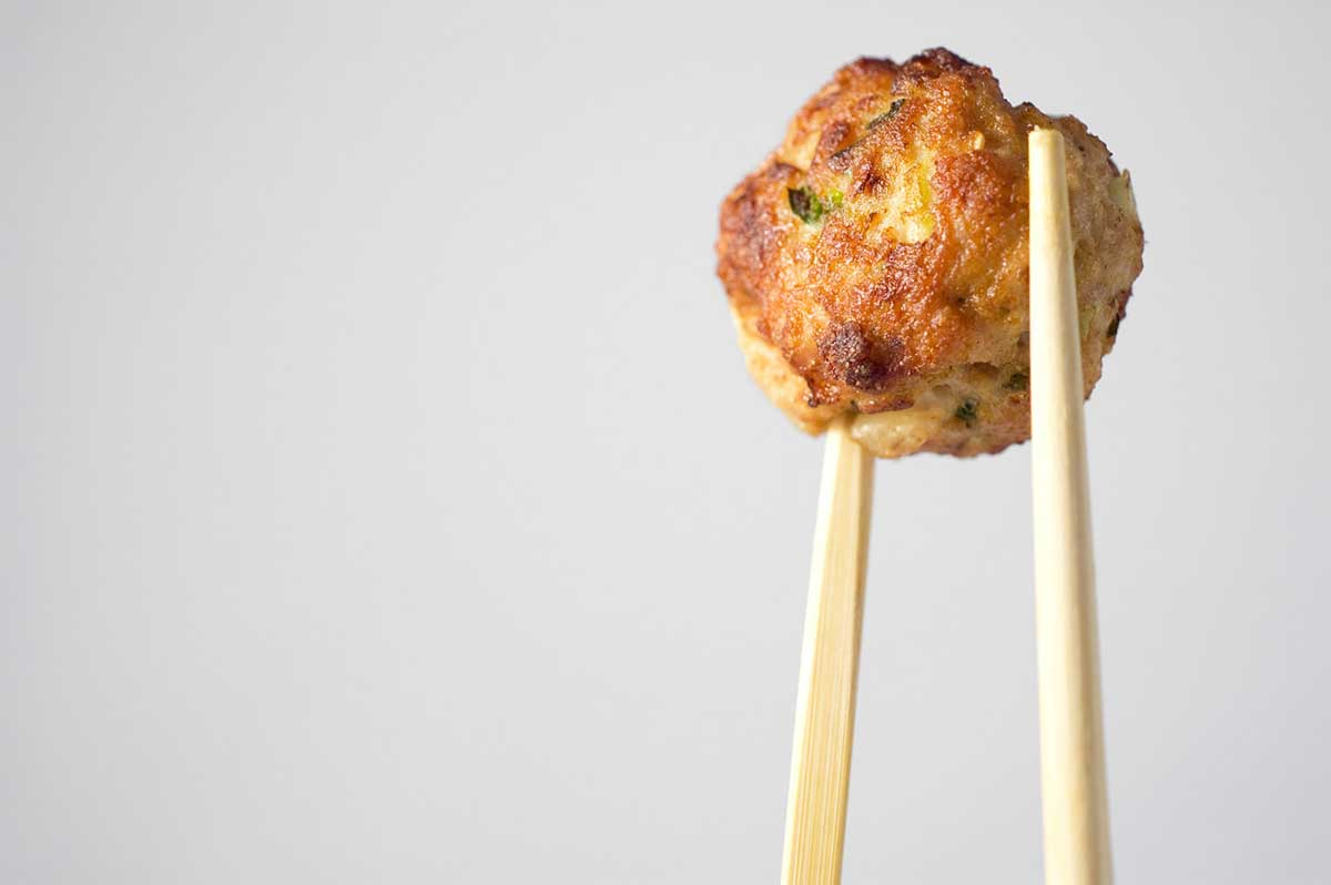Asian Pork Meatballs with Soy Garlic Dipping Sauce