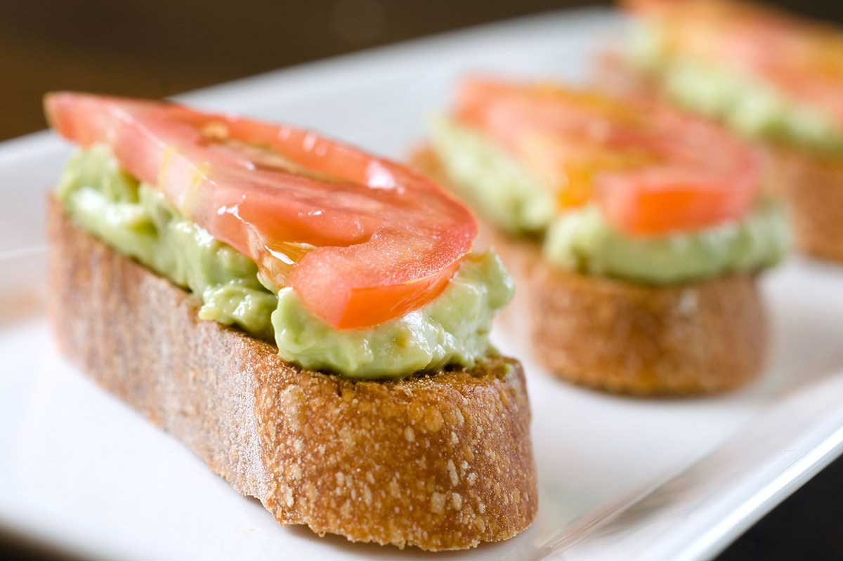 Avocado and Tomato Crostini
