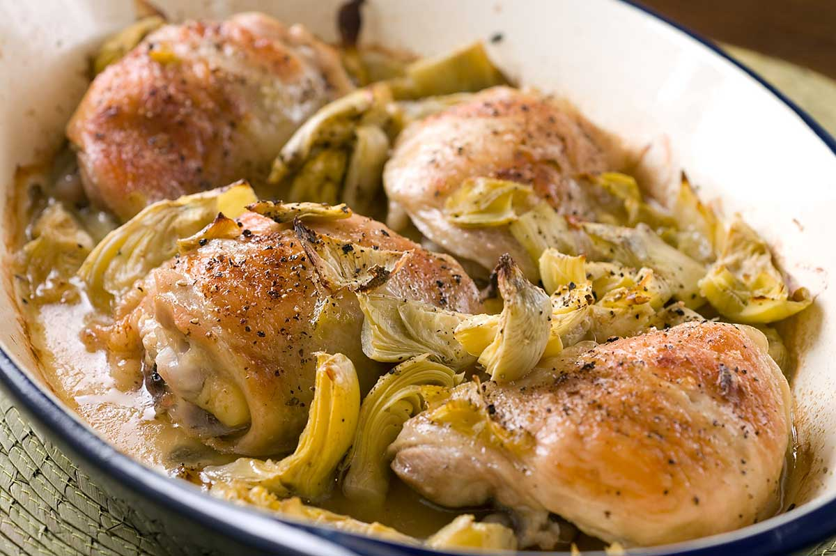 Baked Chicken with Artichokes - Life's Ambrosia