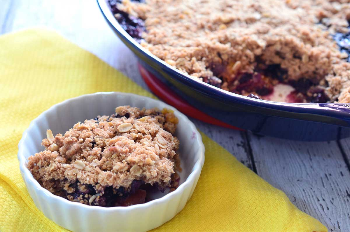Blueberry Nectarine Crisp