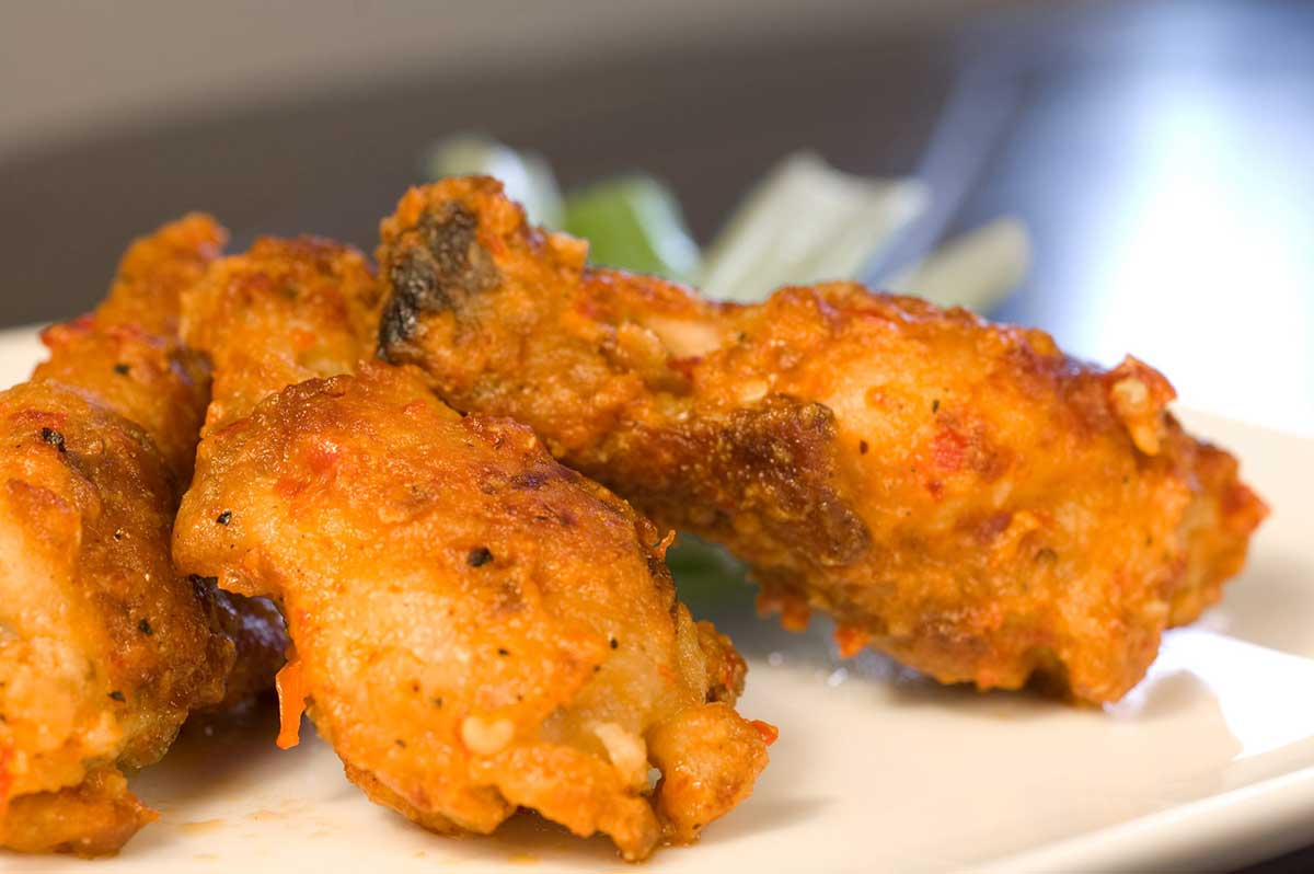 Spicy Smoked Chicken Wings & Sour Cream Dressing
