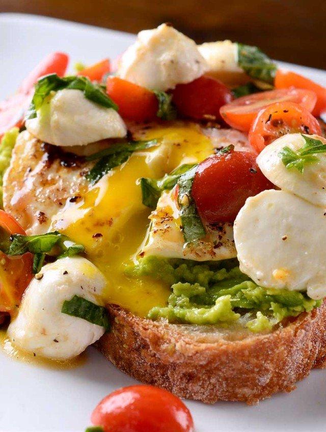 Recipe for Caprese Avocado Breakfast Toast - Life's Ambrosia Life's ...