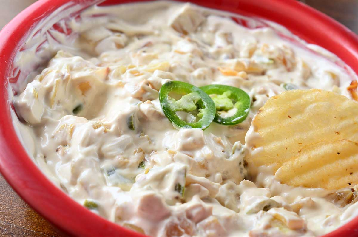 Caramelized Onion and Jalapeno Dip