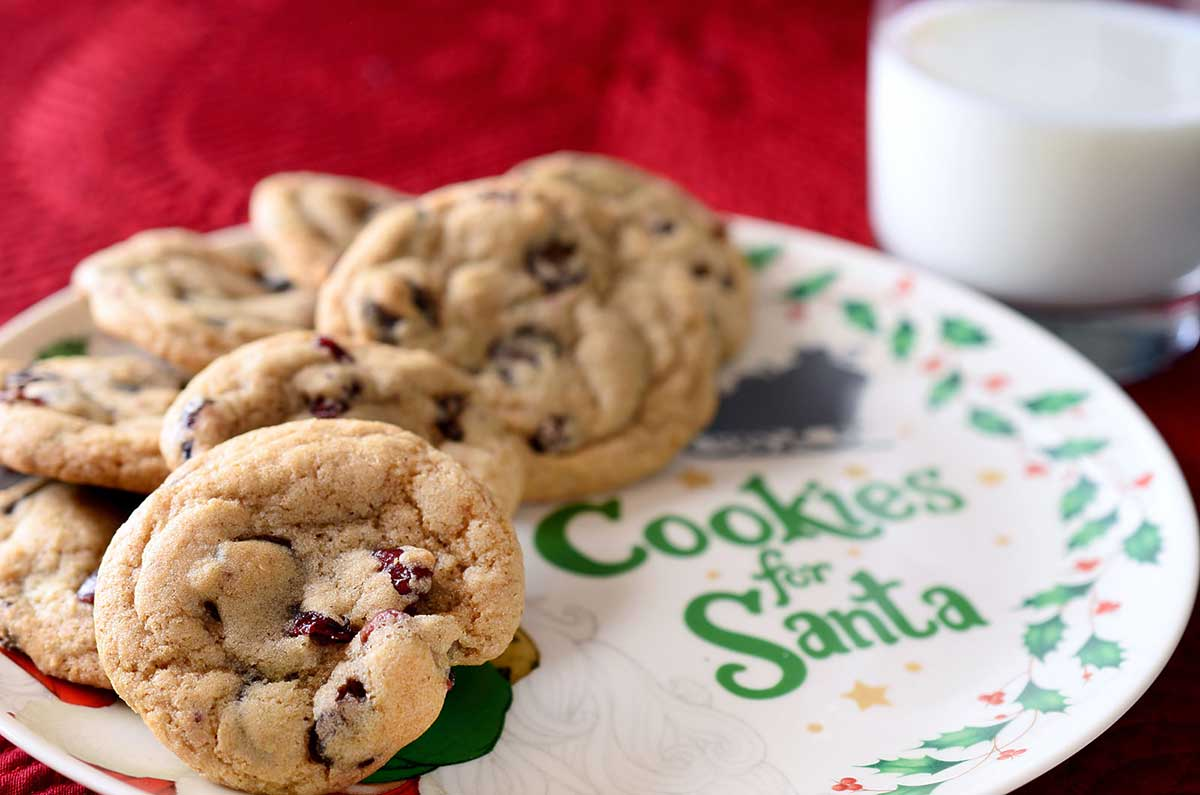 Carob and Cranberry Cookies