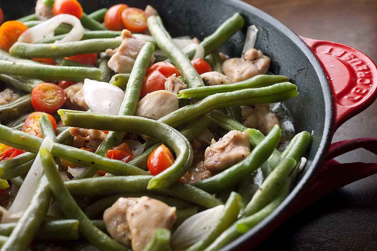 Chicken with Green Beans and Tomatoes