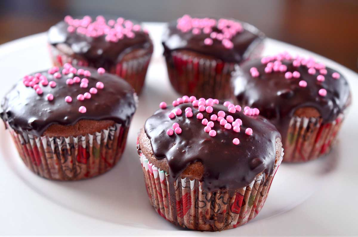 Chocolate Cupcakes with Chocolate Ganache - Life's Ambrosia