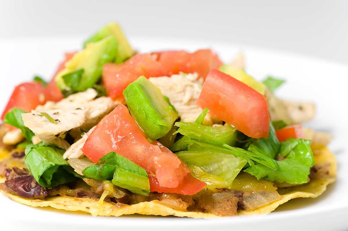 Cilantro Lime Chicken Tostada