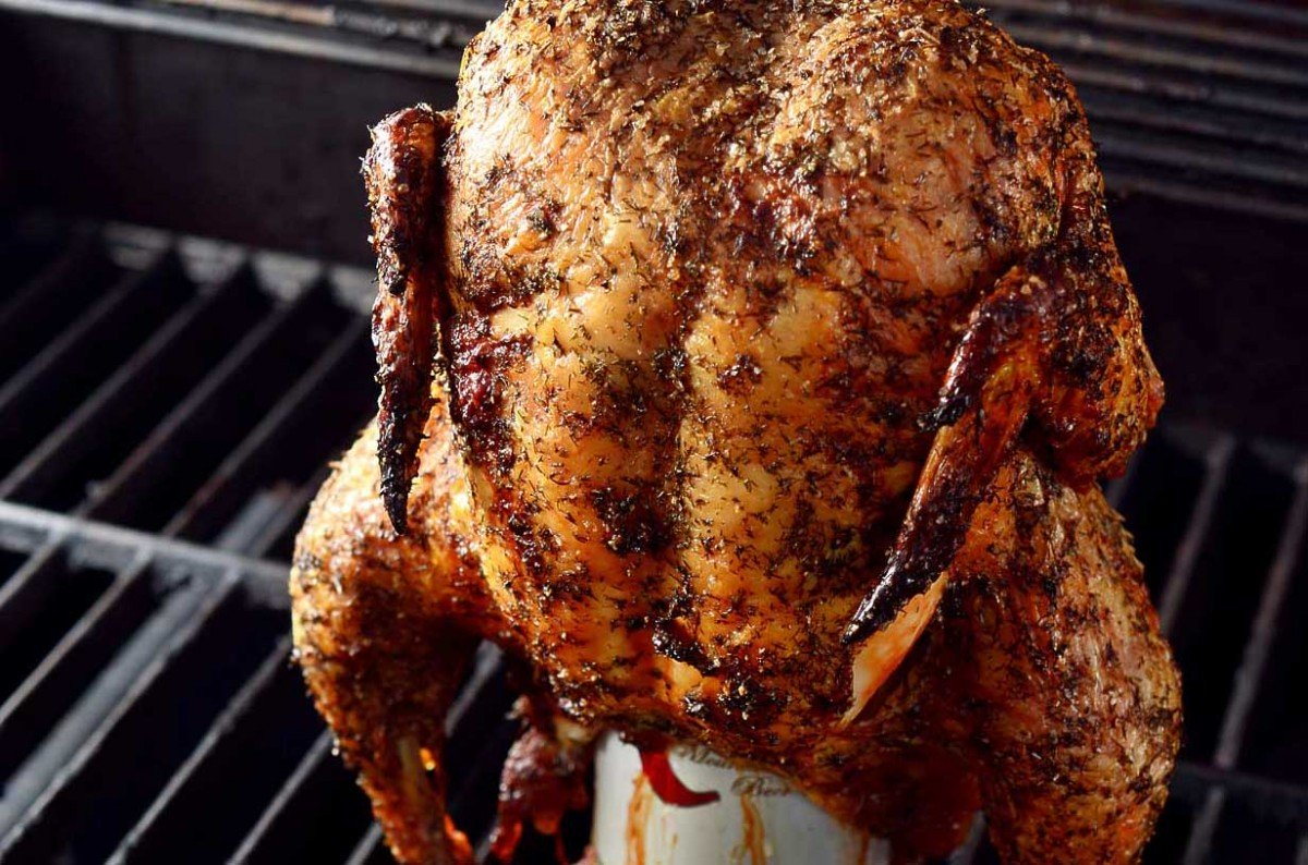 Dill Beer Can Chicken
