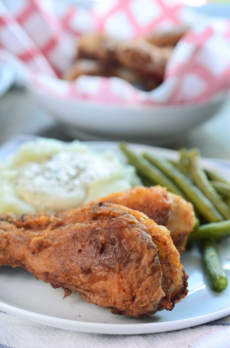 A southern classic this crispy, succulent buttermilk fried chicken is the stuff sunday supper dreams are made of.