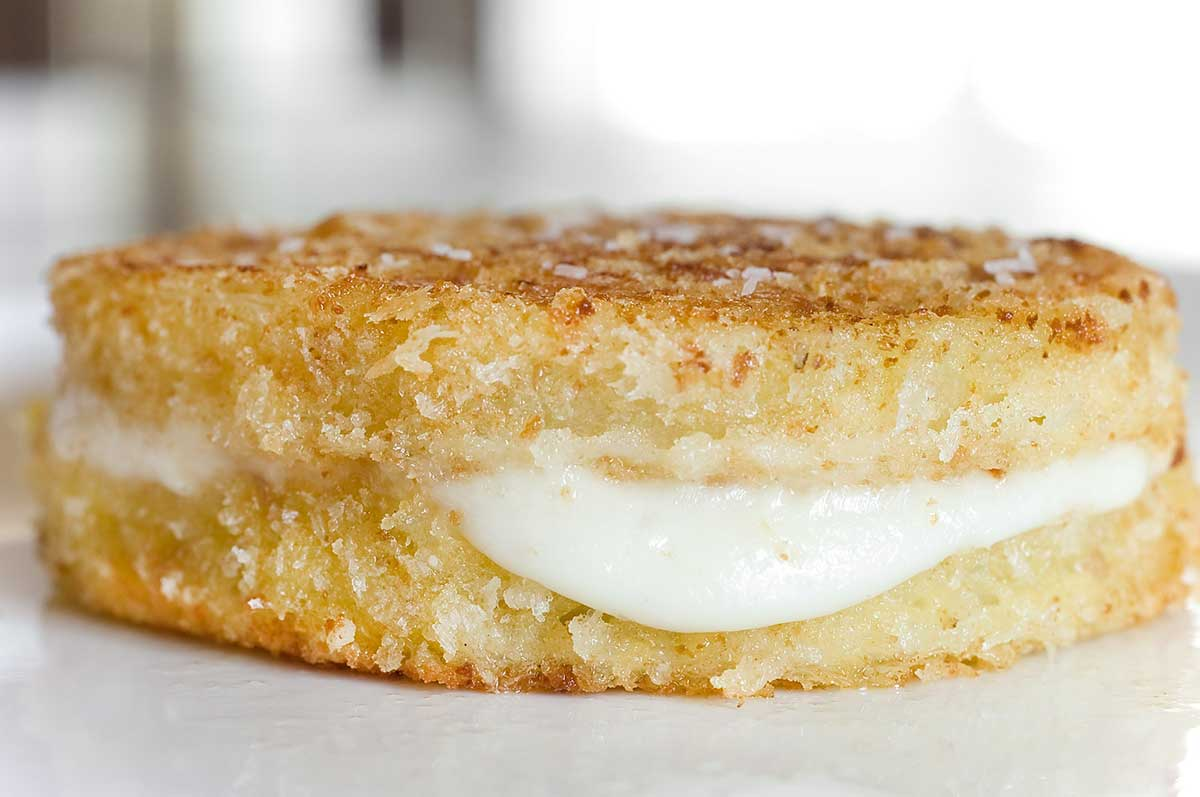 Fried Green Tomatoes with Mozzarella