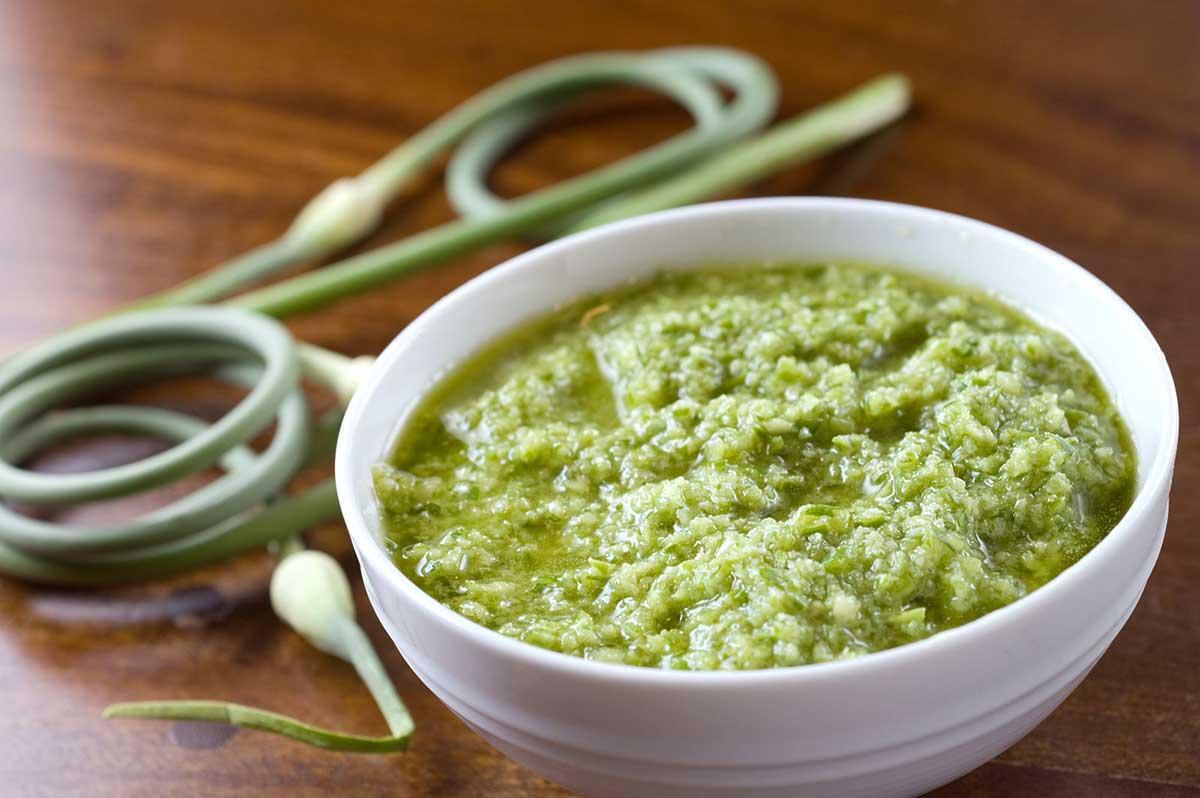Garlic Scape Pesto - Life's Ambrosia