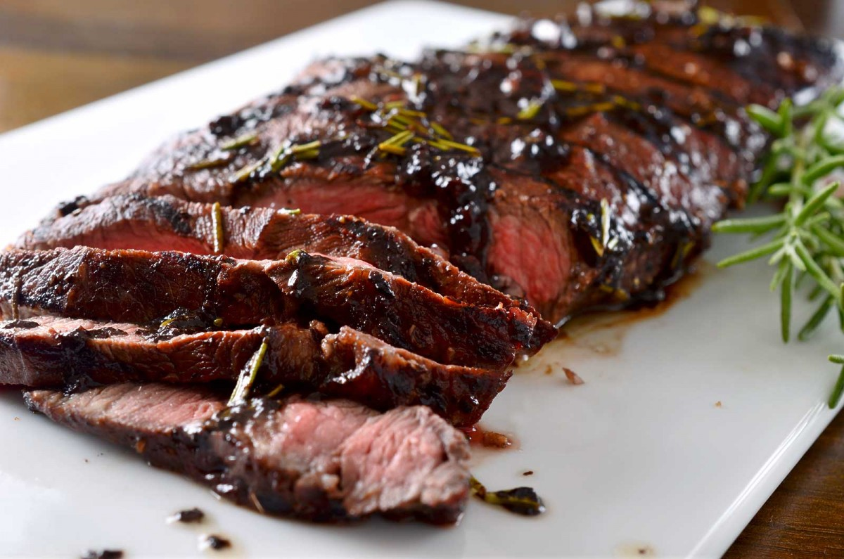 Grilled Rosemary and Balsamic Steak - Life's Ambrosia