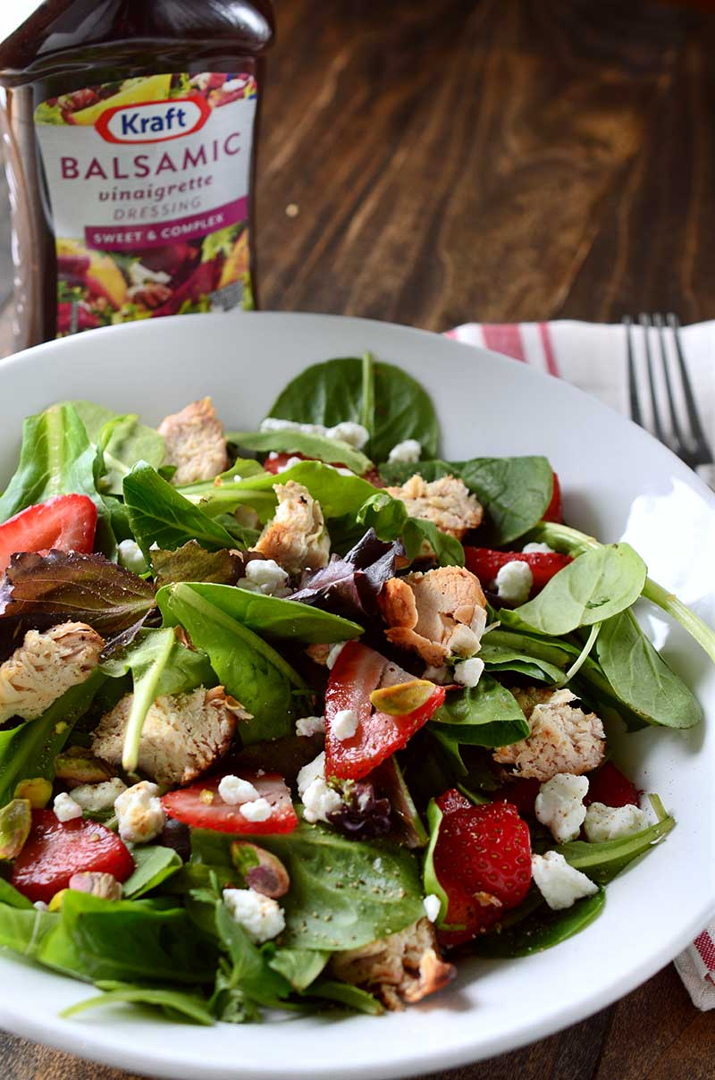 Grilled Balsamic Chicken and Strawberry Salad