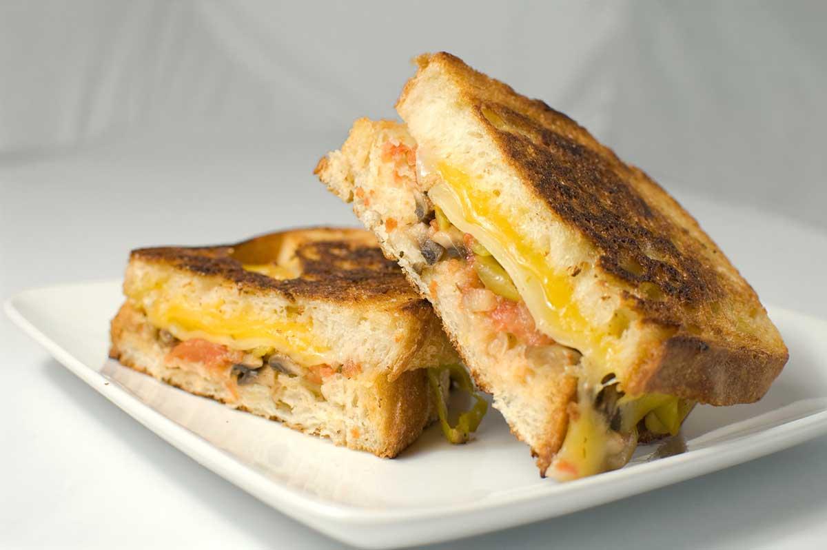 Grilled Three Cheese Sandwich