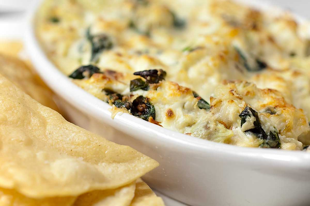 Hot Crab Spinach And Artichoke Dip