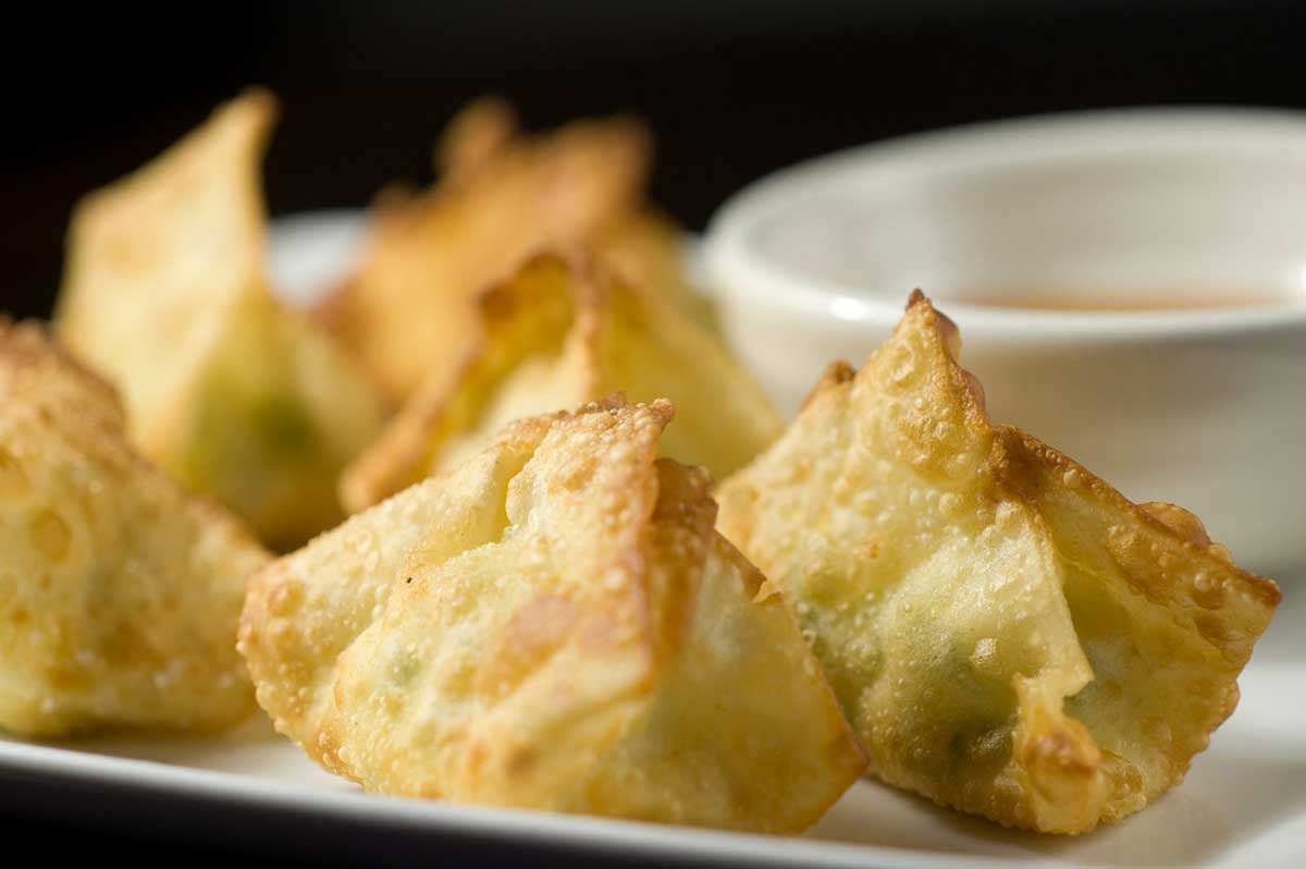 Jalapeno Cream Cheese filled Wontons