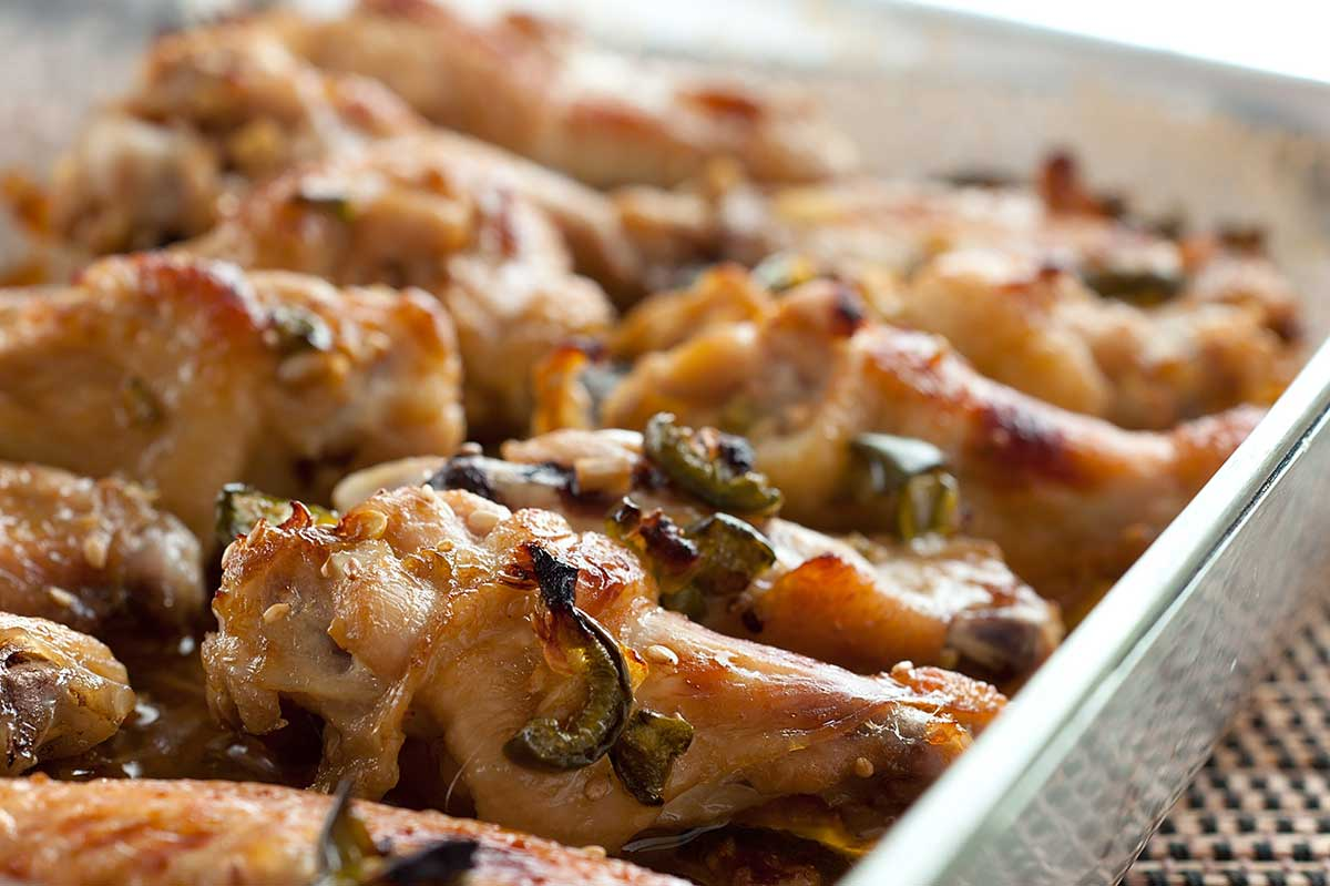 Jalapeno Ginger Chicken Wings