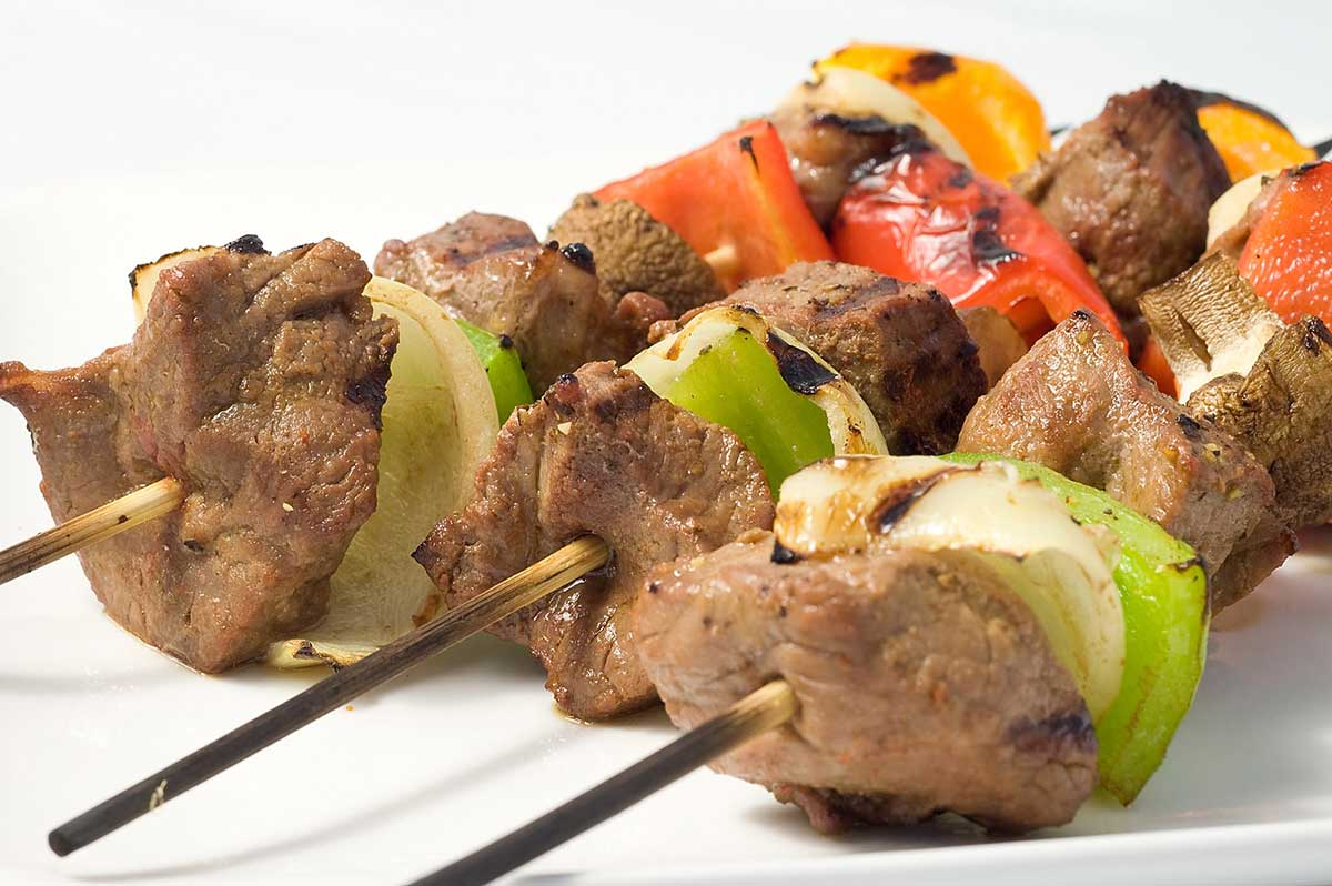 Marinated Beef and Veggie Skewers