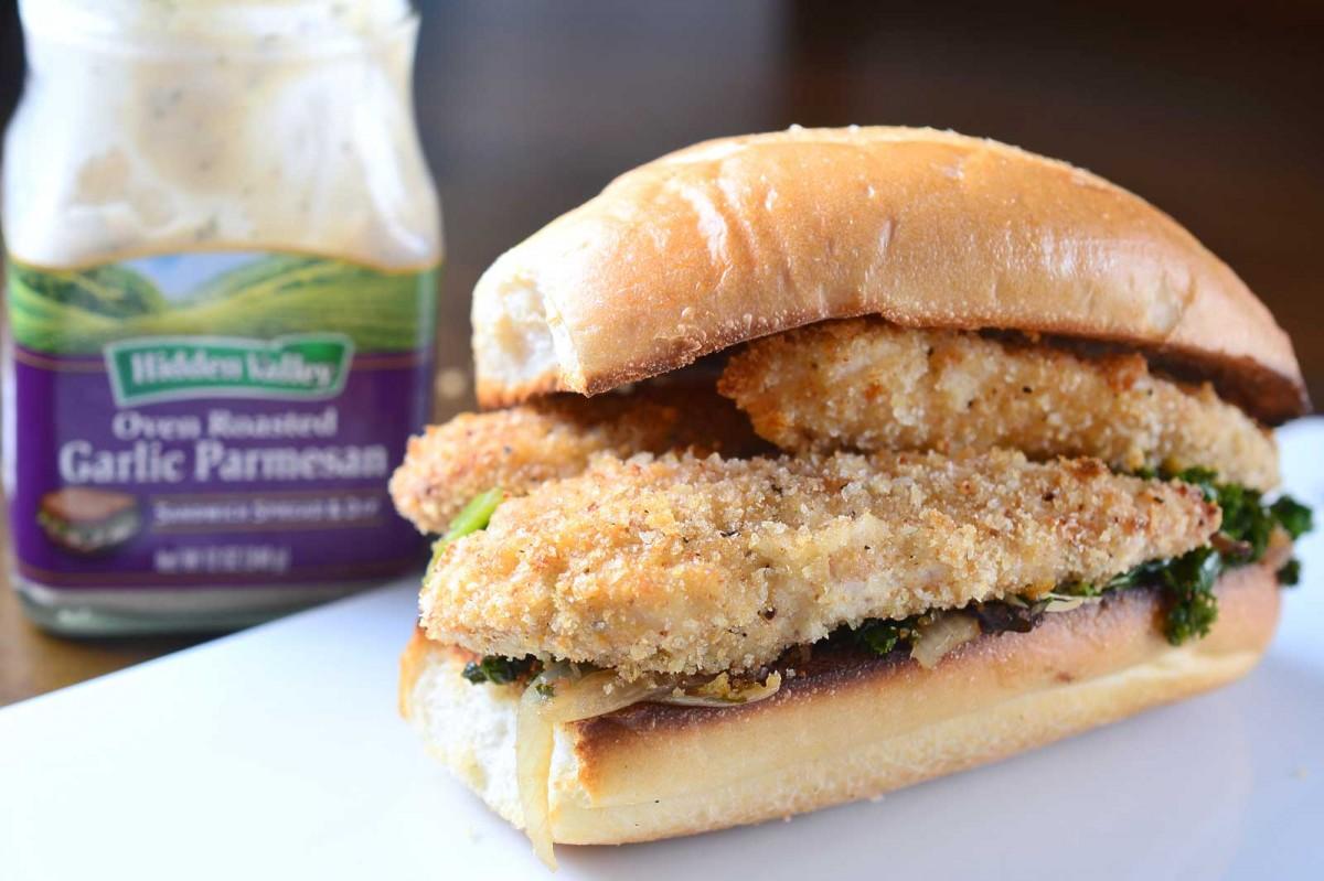 Oven Roasted Garlic Parmesan Crispy Chicken Sandwich